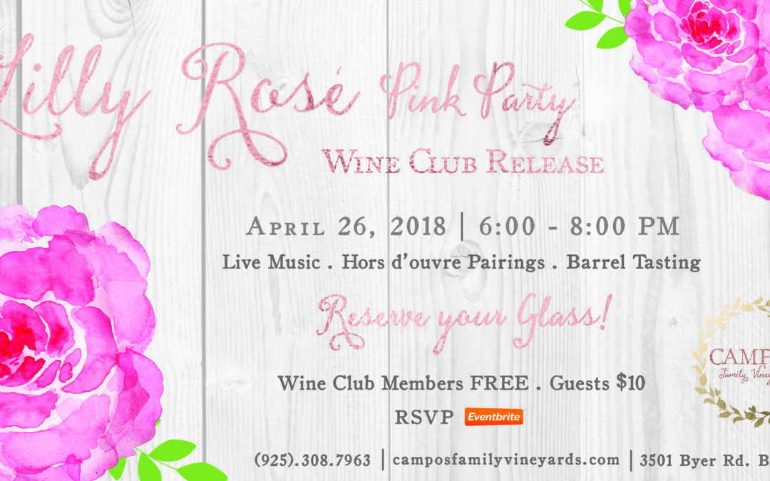 Welcoming Lilly Rose – WINE CLUB RELEASE PARTY – MEMBERS ONLY