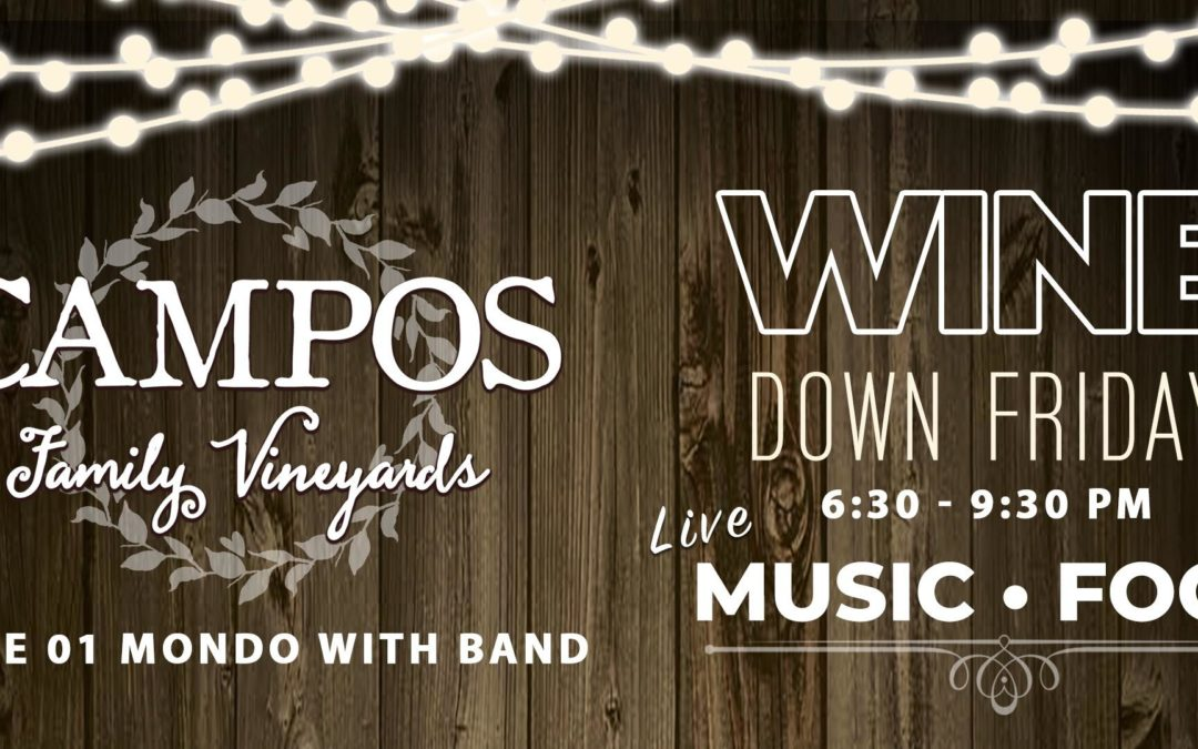 Wine Down Friday – Mondo & His Band!