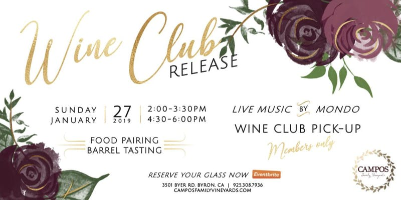 Wine Club Release – For Members Only