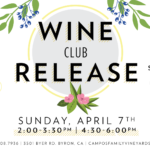Spring Wine Club Release – For Members Only