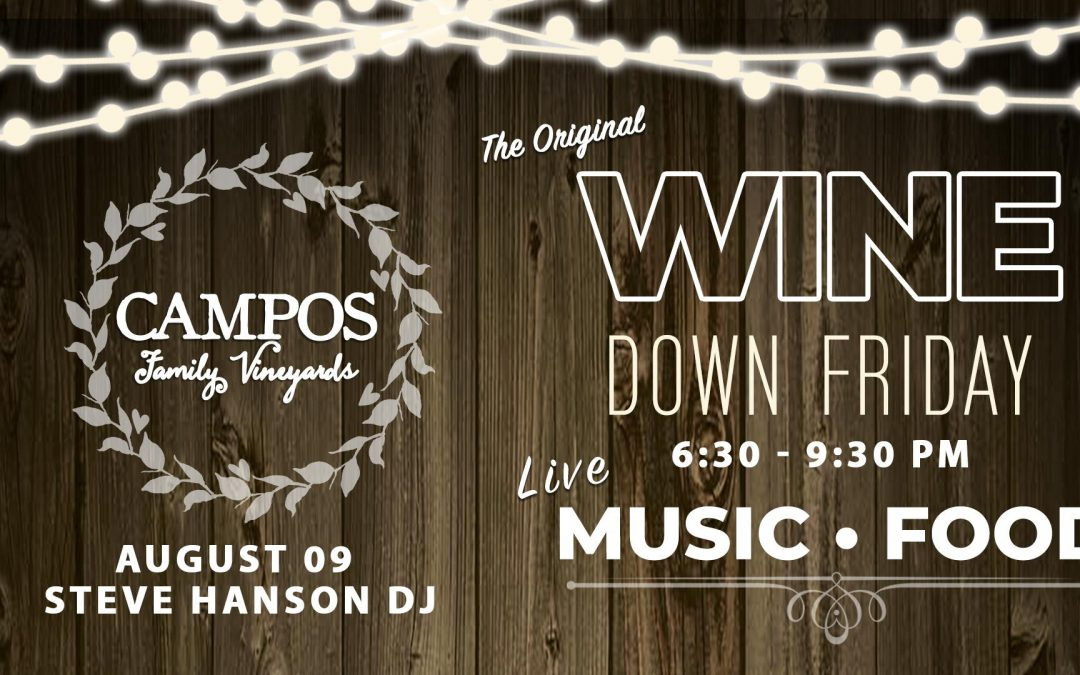 Wine Down Friday – DJ Steve Hanson