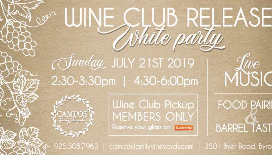 Summer Wine Club Release Party – Wine Club Members Only!