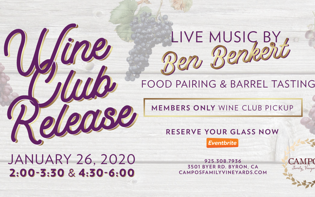 Winter Wine Club Release Party – Wine Club Members Only!