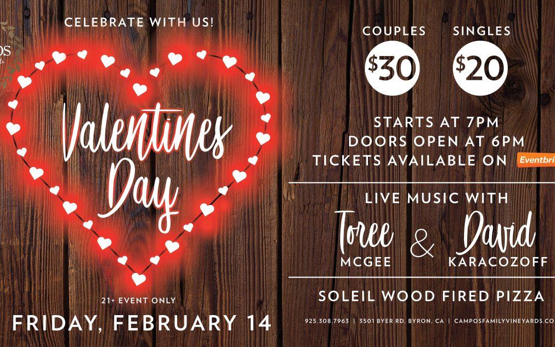 Valentine's Day with Toree McGee & David Karacozoff!