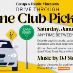 January 2021 Wine Club Drive Through Pickup
