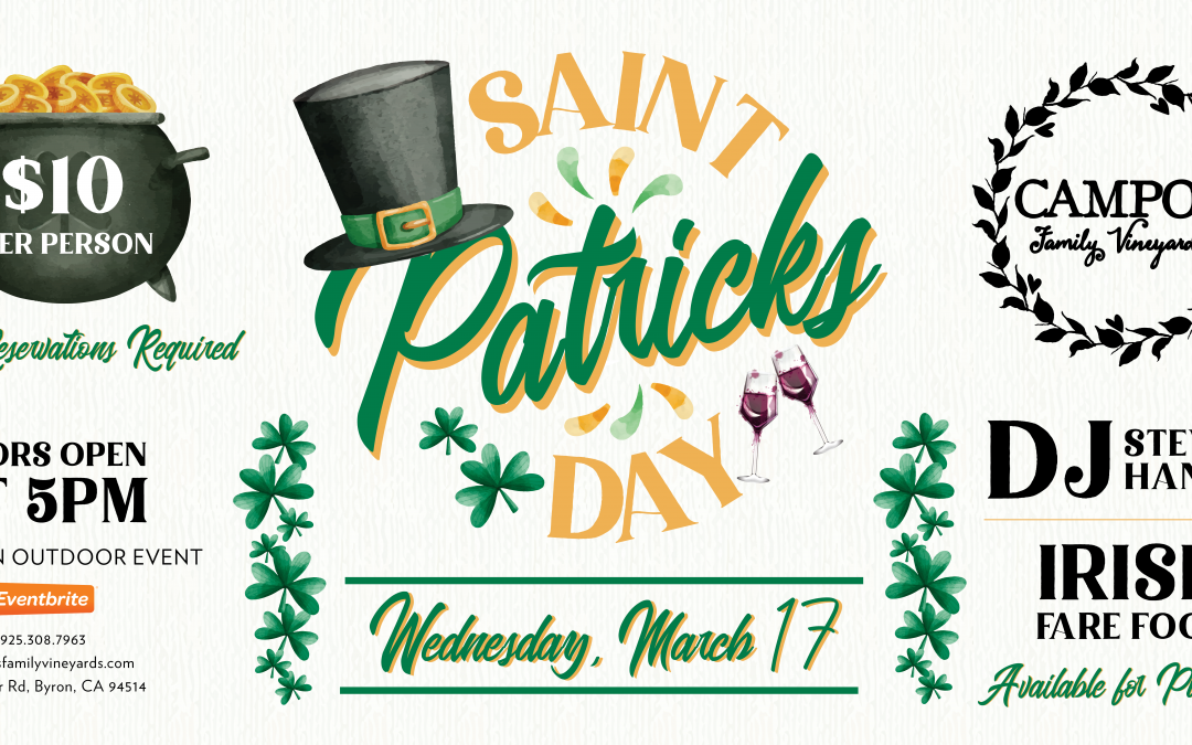 St. Patrick's Day at the Vineyard!