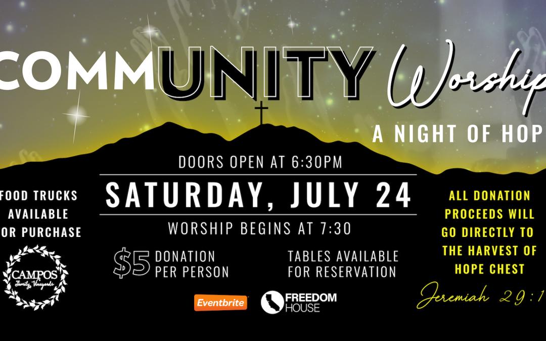 CommUNITY Worship – A Night of Hope!